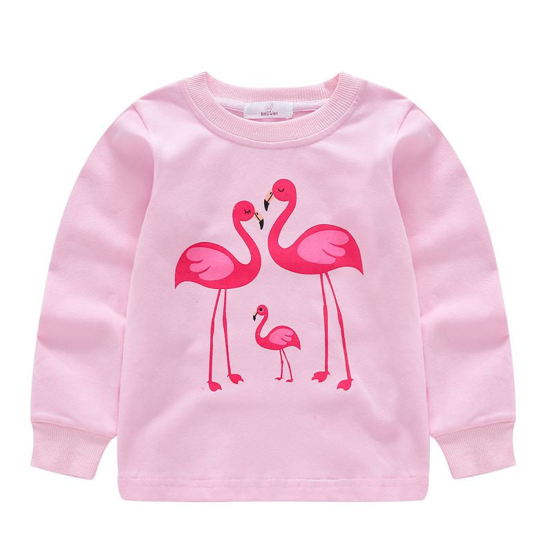 Girl's 59 Flamingos Pajamas 2 Piece Set!