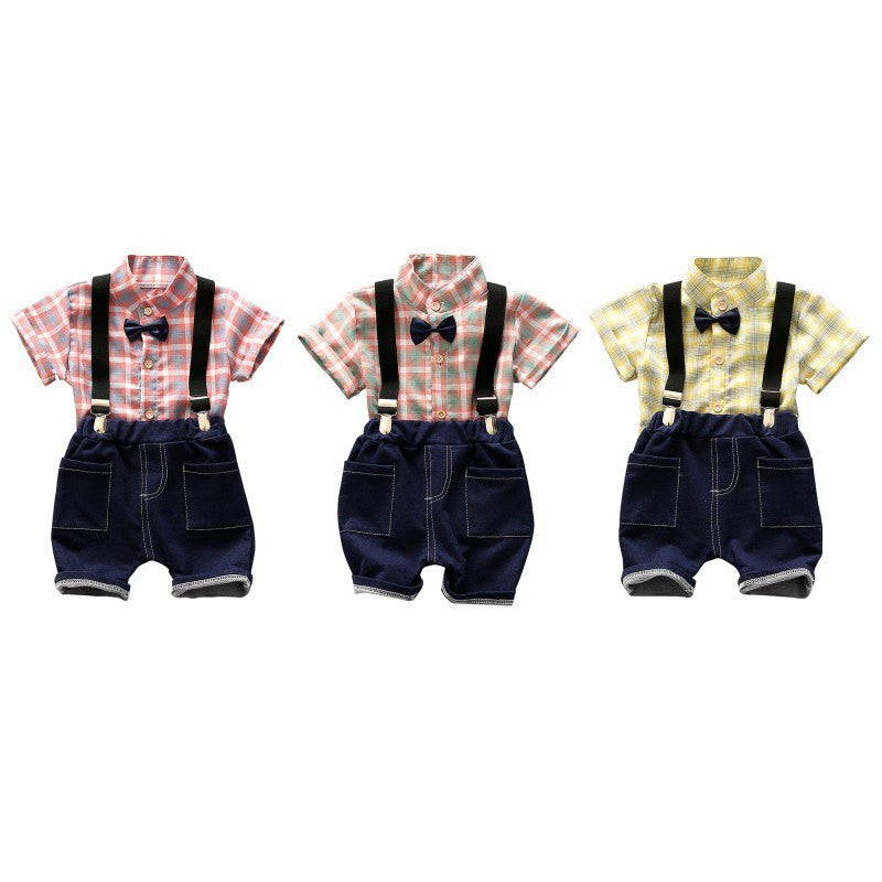 Country Baby Boy's Plaid Shirt Pant Set!