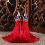 Women's Long Tassel Fringe Boho Earrings