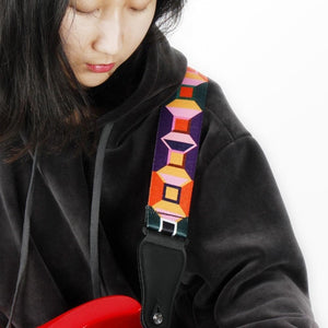 Guitar Strap with Cool Retro Design!