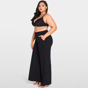 Women's Plus Size High Waist Wide Leg Pants