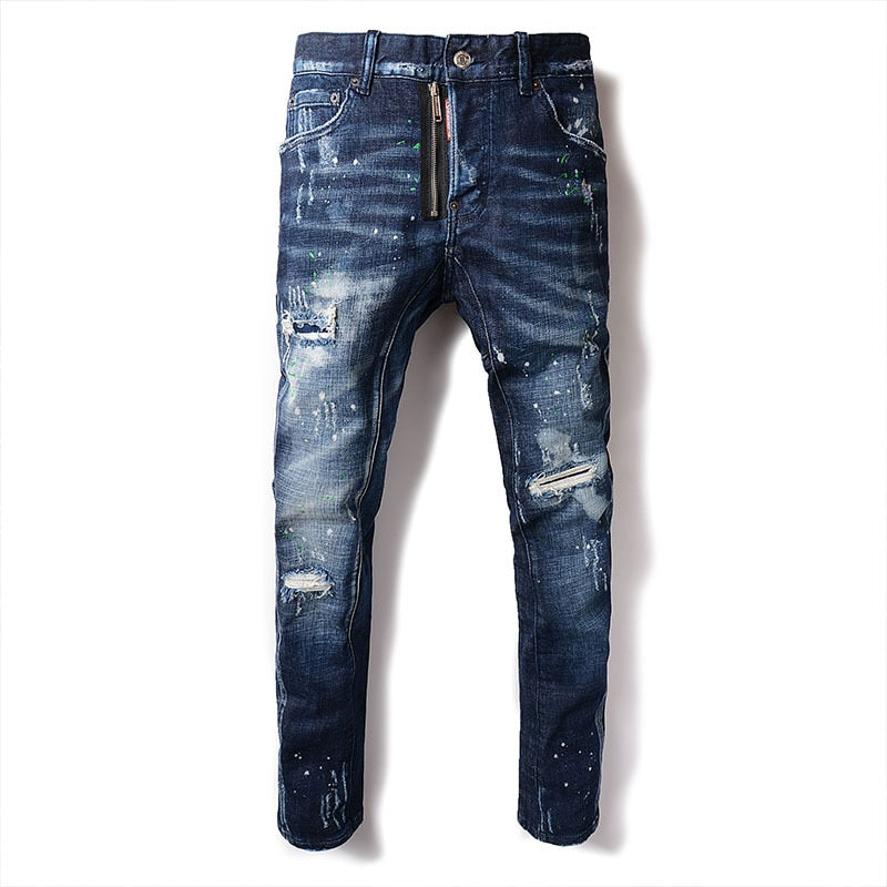Men's Skinny Distressed Jeans