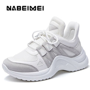 Wedge sneakers for women Patchwork Girls sneakers Increase Breathable Casual tennis shoes woman Large size 4.5-10.5