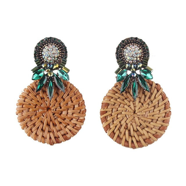 Beautiful Vintage Inspired Tiki Bamboo Earrings