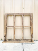 Wooden Window Pane