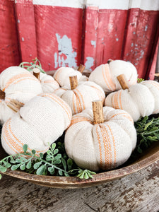 Pumpkin place card holder.