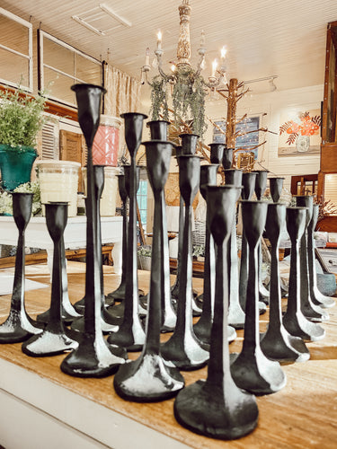 Cast Iron Taper Candle Sticks Assorted
