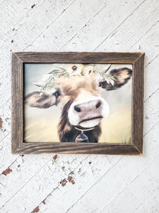Marley The Cow Framed Print