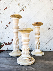 Swirl Carved Candle Sticks