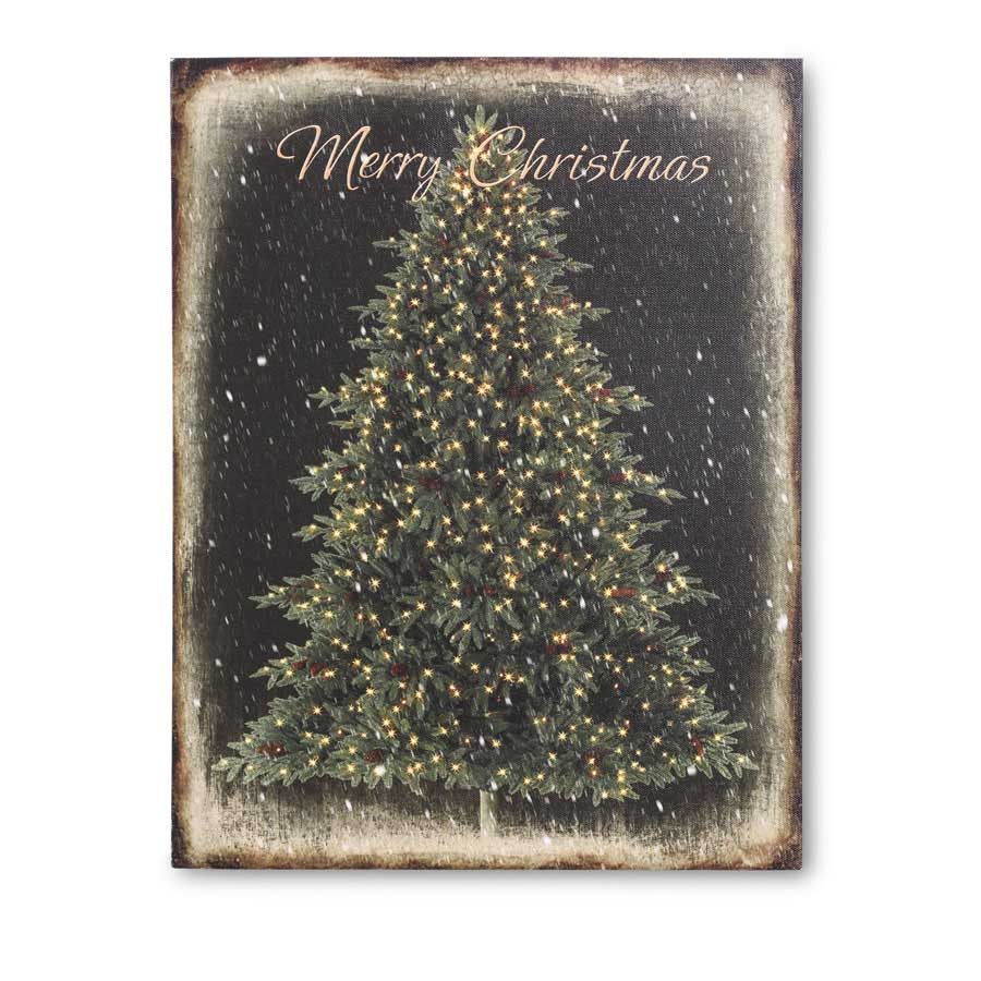 Lite up Merry Christmas Tree Sign