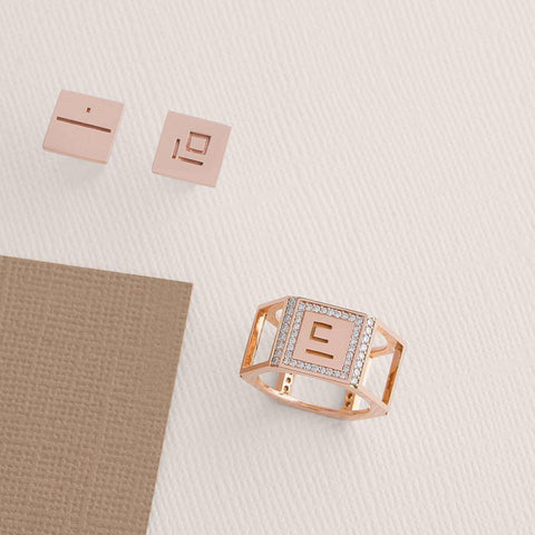 SINGLE MINIMAL HAA EARRING - Shamsa Alabbar