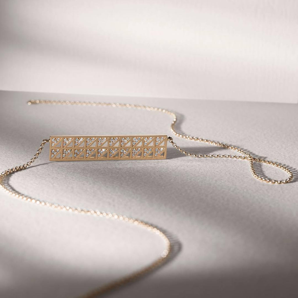 BAR DIAMOND NECKLACE - Shamsa Alabbar