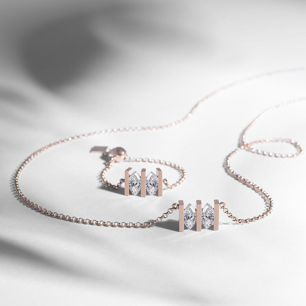 MONOLITH MARQUEE DOUBLE NECKLACE - Shamsa Alabbar