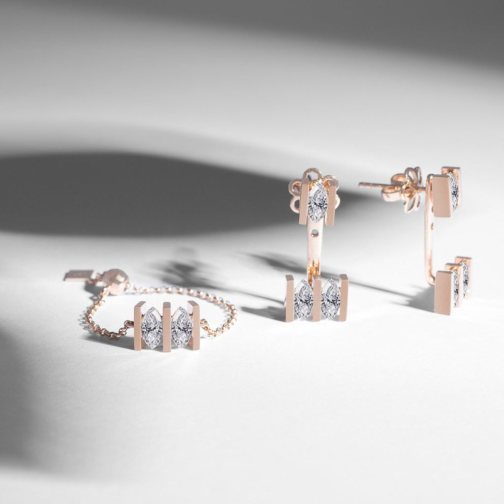 MONOLITH MARQUEE JACKET EARRINGS - Shamsa Alabbar