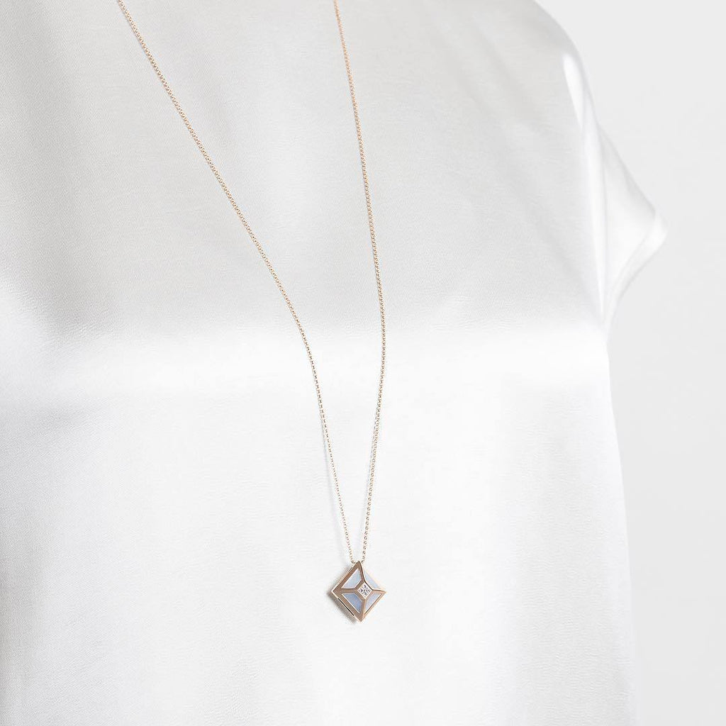 TOKEN 2.0 SINGLE NECKLACE WITH MOP - Shamsa Alabbar