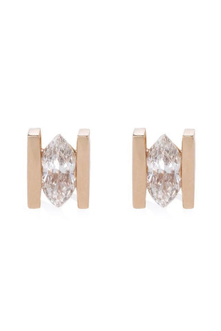 MONOLITH HEART DIAMOND EARRINGS - Shamsa Alabbar