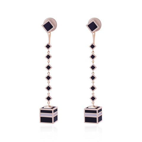KAABA LONG EARRINGS - Shamsa Alabbar