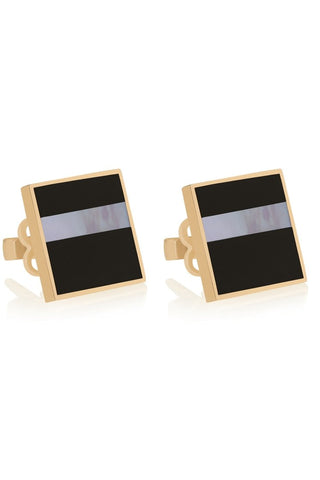 KAABA ONYX EARRINGS - Shamsa Alabbar