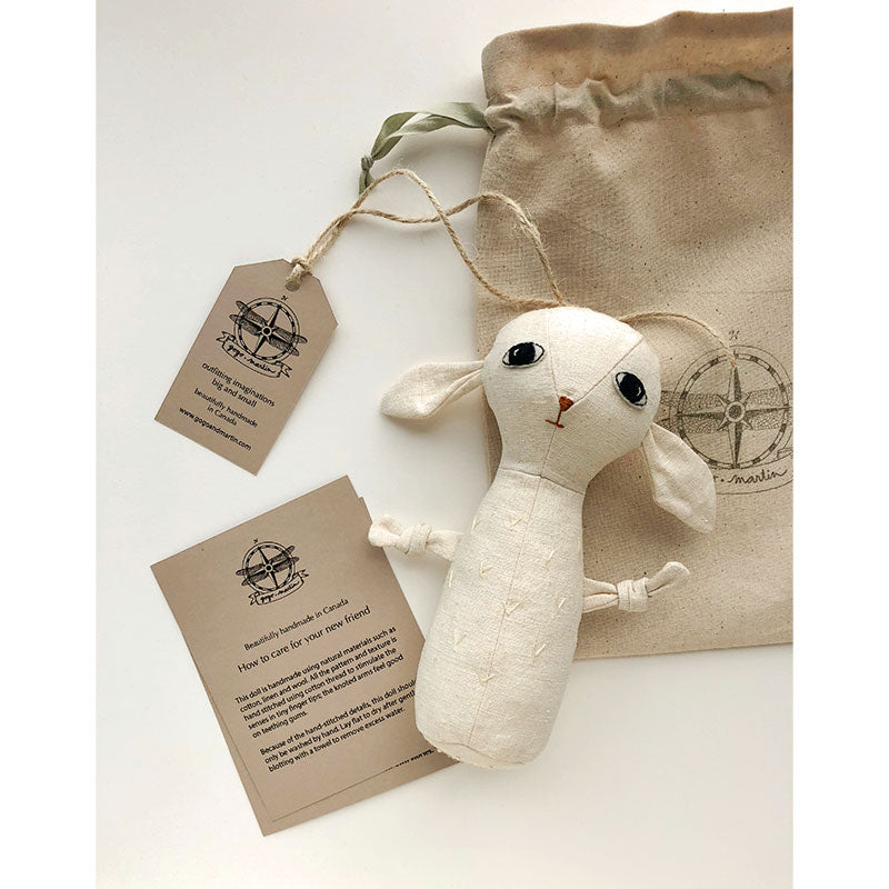 lamb teething doll