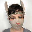 bunny face mask, washable