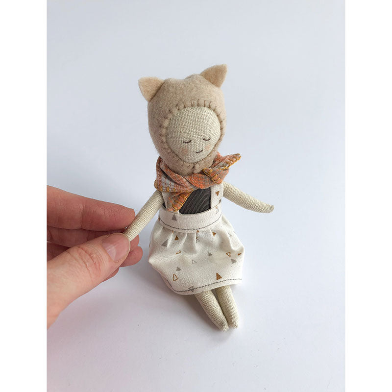 forest friends small doll, cat
