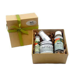 arizona citrus organic skincare with lip balm dry oil spray and hand and body creme. cruelty free and no parabens or sls
