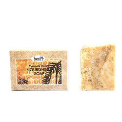 Organic mesquite honey scented soap. Comes in cute box, great for a gift or yourself. Good everyday soap.