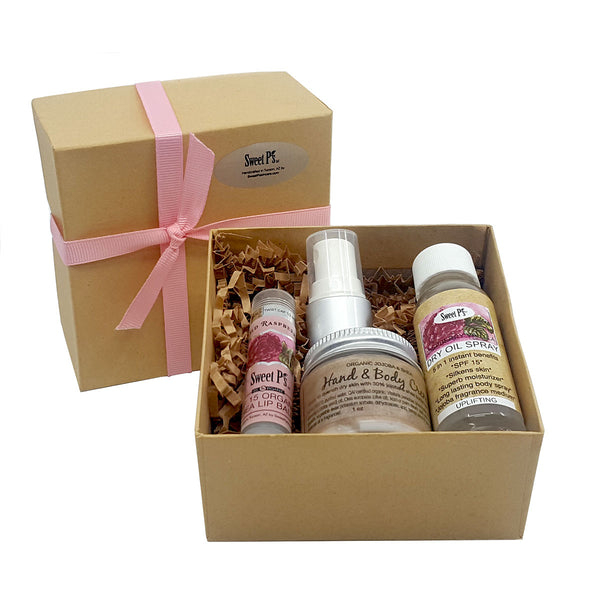 3-Piece Boxed Gift Set Raspberry/Vanilla
