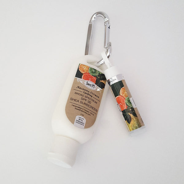 Shea Sunscreen-Lip Balm Carabiner - Arizona Citrus