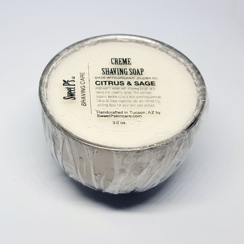 Creme Shaving Soap - Citrus and Sage