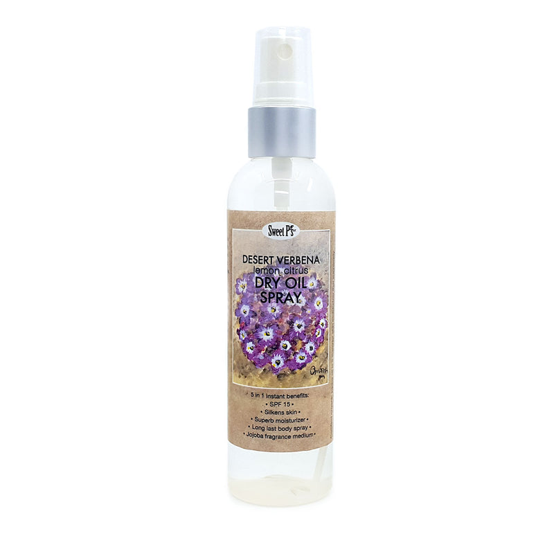 Experience skin softening dry oil spray. Made with certified organic jojoba oil and spf 15.