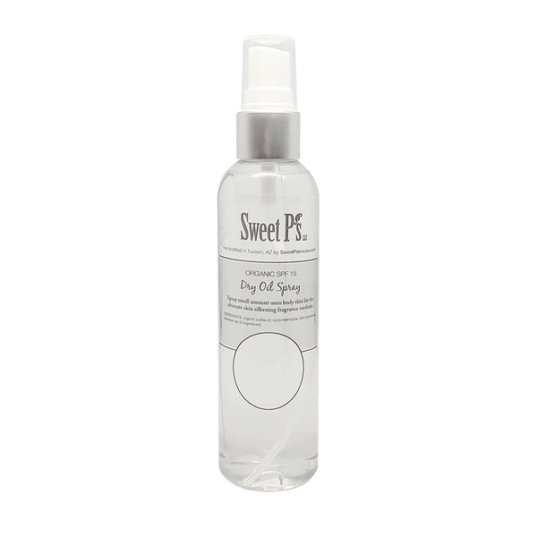 lightly scented dry oil spray leaves skin silky smooth with spf