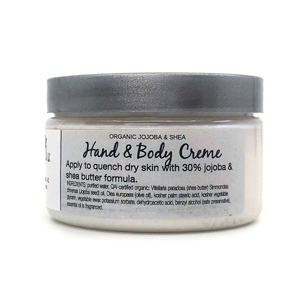 moisturizing hand and body creme with shea butter and jojoba oil