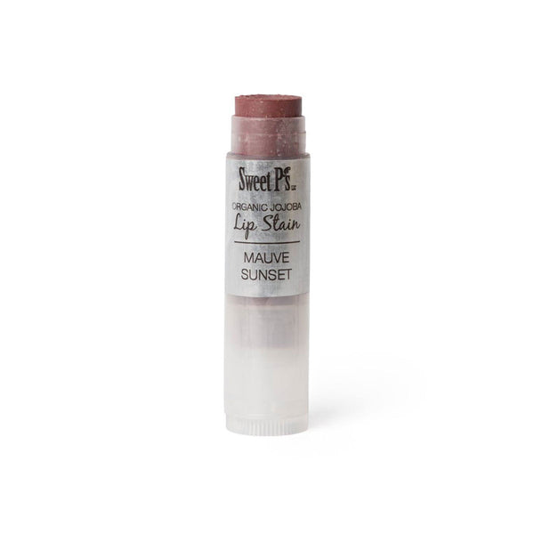 organic lip balm with spf, mauve