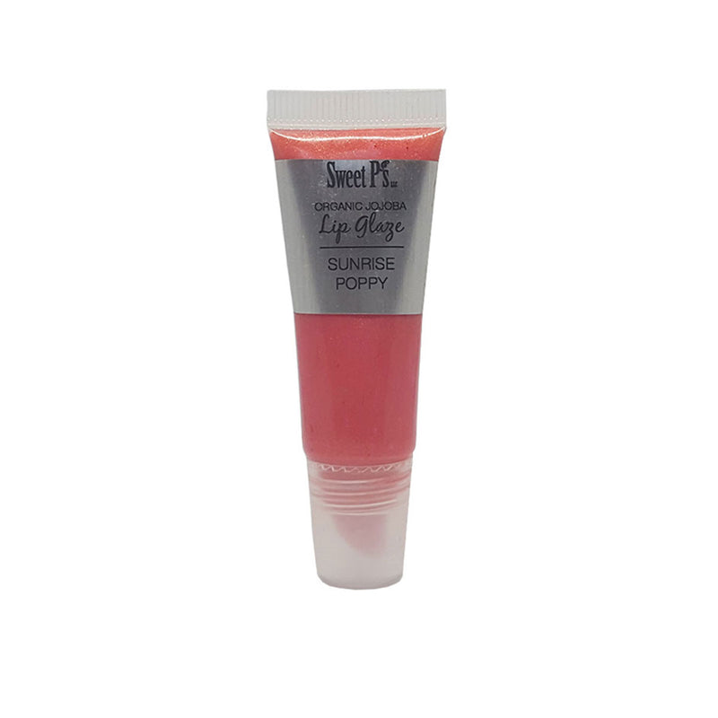 Organic Jojoba Lip Glaze - Sunrise Poppy