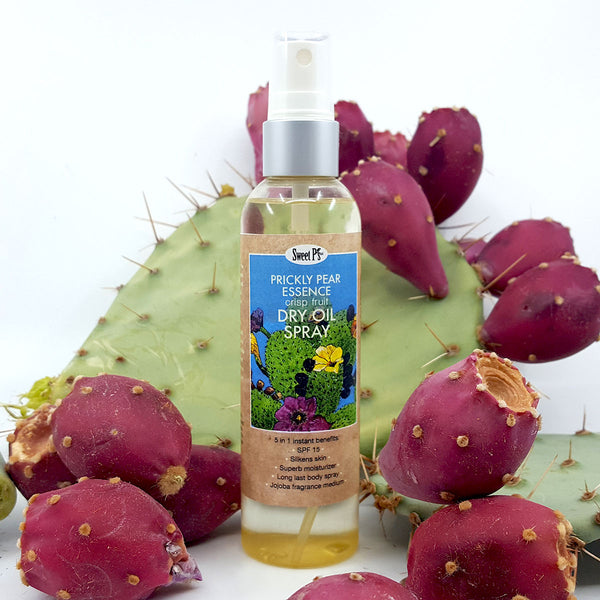 Refreshing dry oil spray is made with certified organic jojoba oil. There is SPF 15 for protection from the sun. Cruelty free, our products are never tested on animals.