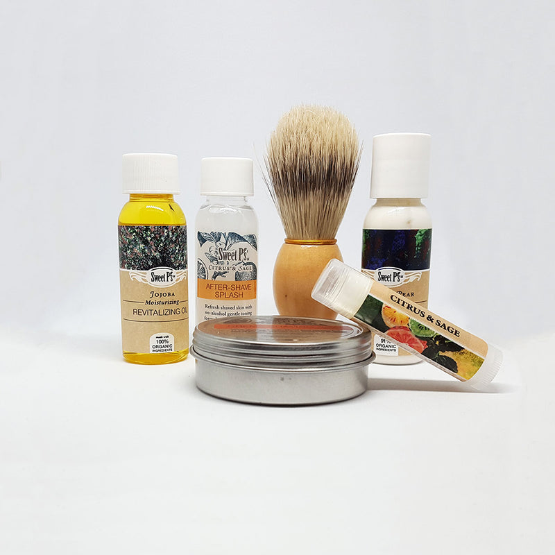 Shaving Travel Set - Citrus and Sage