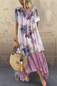 Inscici Bohemian Asymmetrical Ankle Length Dress