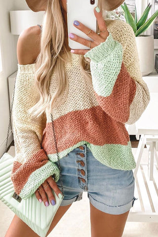 Inscici Color-lump Patchwork Multicolor Sweater