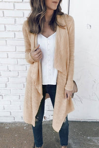 Inscici Asymmetrical Loose Long Sleeve Cardigan
