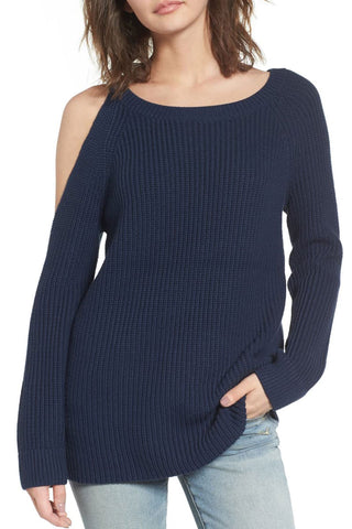 Inscici Dew Shoulder Long Sleeve Sweater