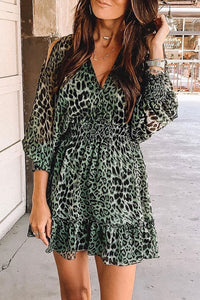 Inscici Backless Leopard Printed Mini Dress
