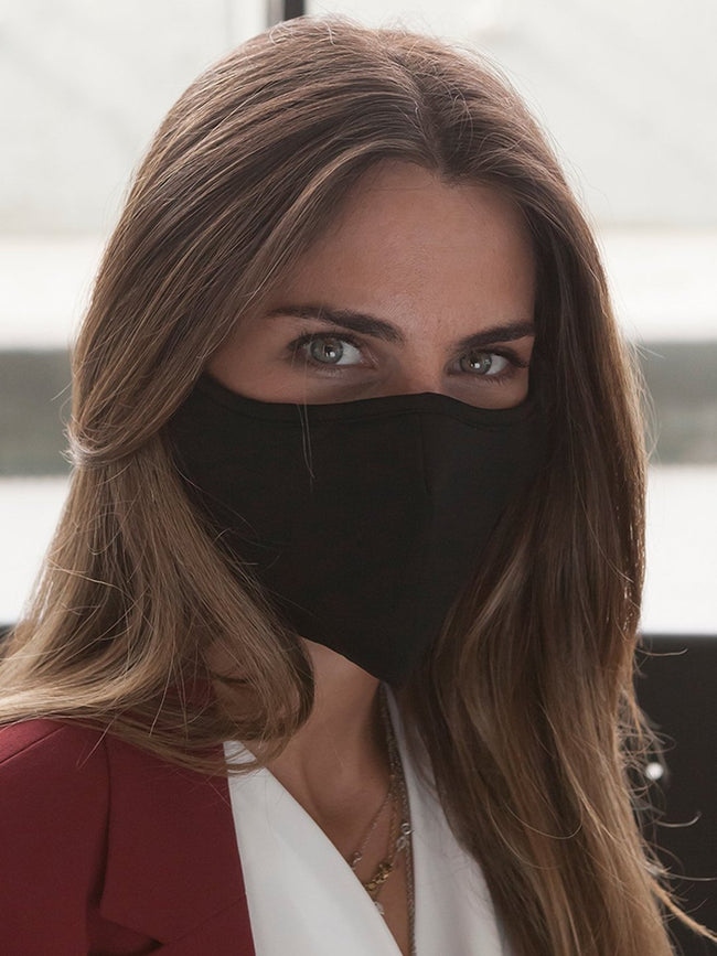 Anti-Viral SKIN CARE Black Unisex Mask (kills 99.99% Covid-19 virus on contact*)