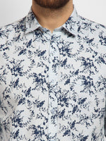 Cape Canary Men's Blue Cotton Printed Casual Shirt-6