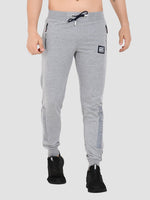 Sapper Men's Grey Printed Cotton-lycra Track pants