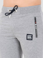 Sapper Men's Grey Printed Cotton-lycra Track pants-5