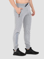 Sapper Men's Grey Printed Cotton-lycra Track pants-4