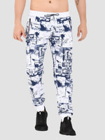 Sapper Men's Cotton-lycra White Track pants