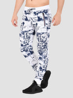 Sapper Men's Cotton-lycra White Track pants-4