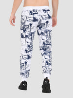 Sapper Men's Cotton-lycra White Track pants-2